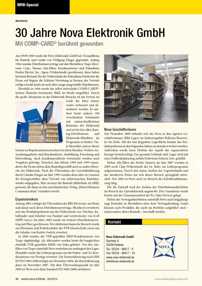 elektronik Journal 06/2010 - NRW-Spezial